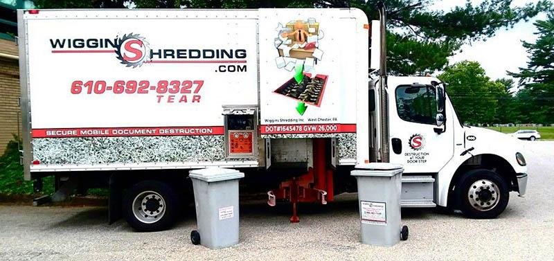 Wiggins Shredding Truck in Delaware County PA