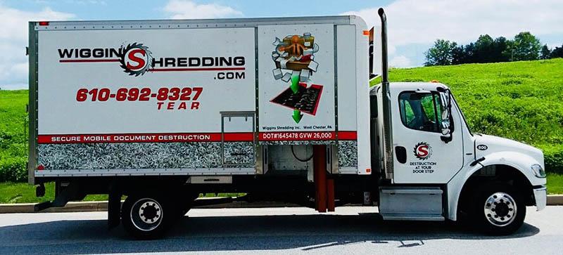 Wiggins Shred Truck Ready to Shred