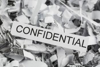 shredded paper confidential